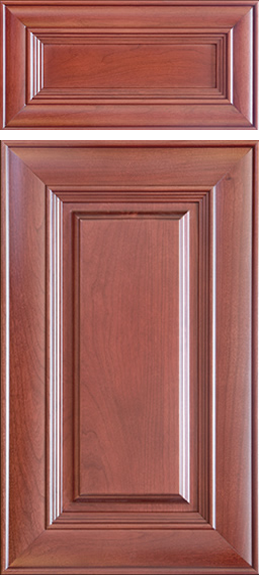 Stained Cabinet Refacing